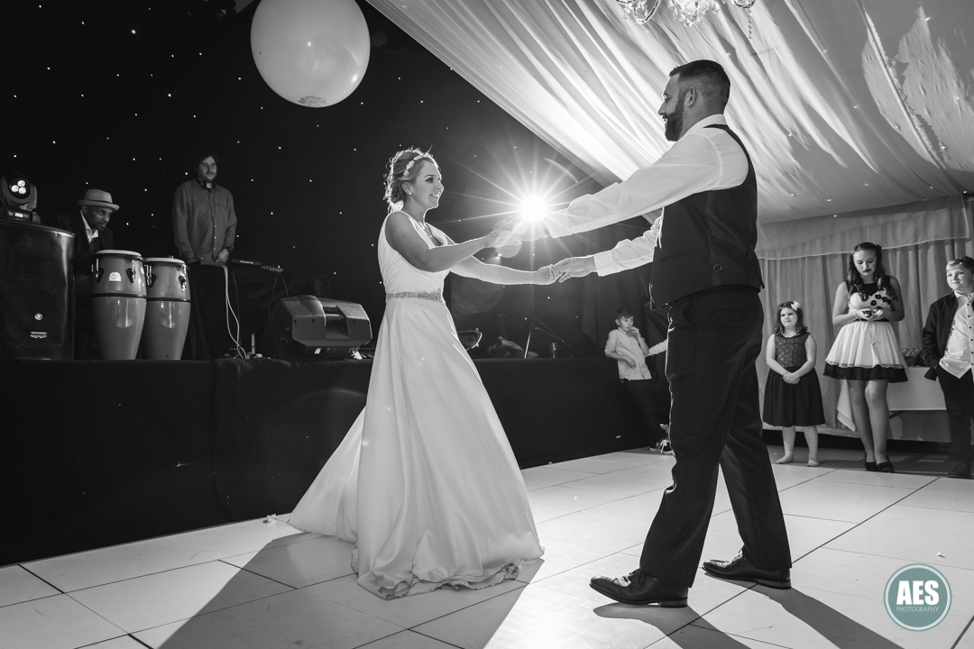 Bride and Groom backlight at Barnby Memorial Hall in Blyth