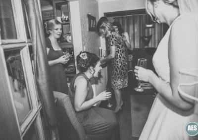 Bridal preparations laughter