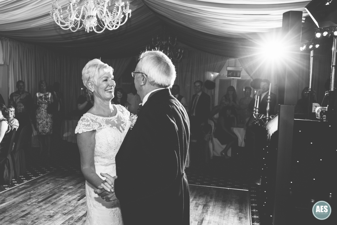 First dance in the Ballroom at Hotel Van Dyk, Derbyshire