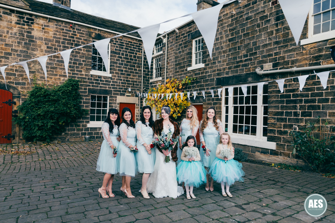 Bridal party at Wood Lane Countryside Centre