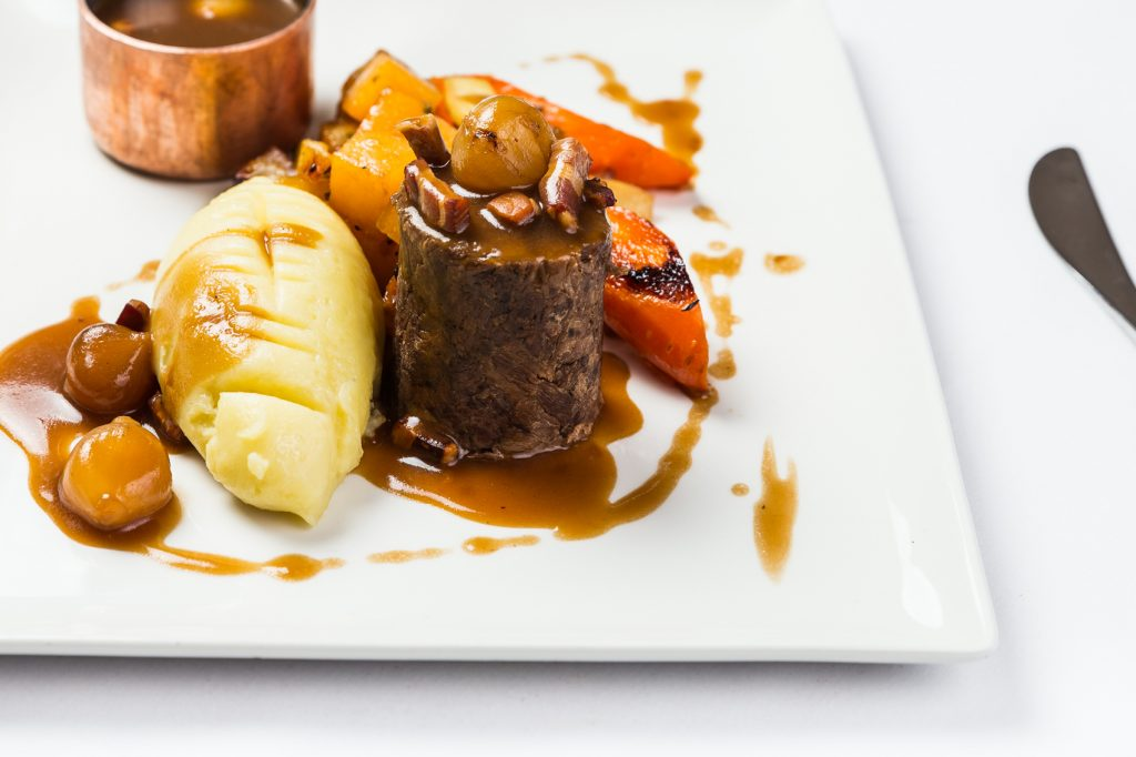 Beef Food Photography at Hotel Van Dyk in Derbyshire