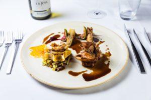 Lamb Shank Food Photography at Hotel Van Dyk in Derbyshire