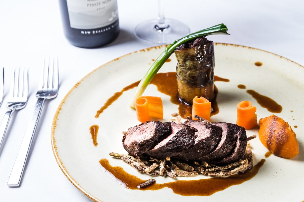 Venison Food Photography at Hotel Van Dyk in Derbyshire