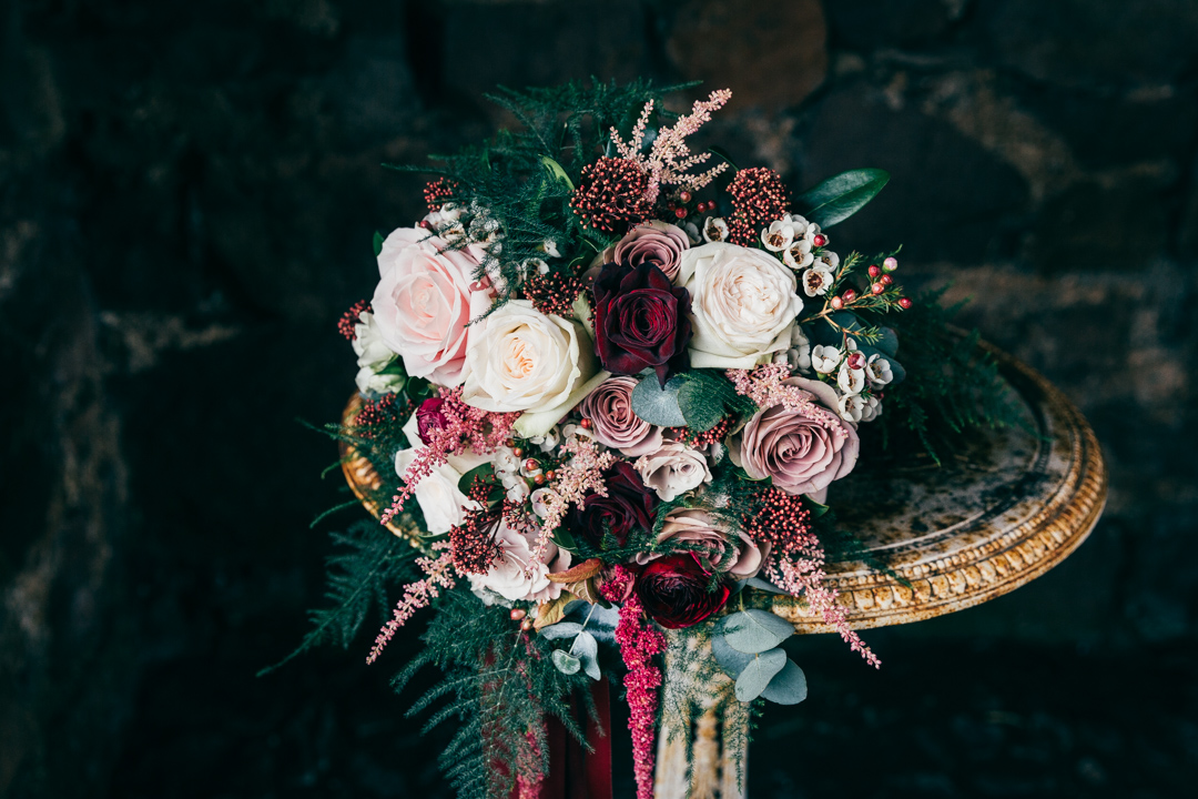 Winter flowers The Ashes Country House wedding venue