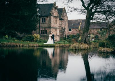 Over the lake at The Ashes Country House wedding venue