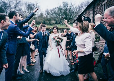 Confetti at The Ashes Country House wedding venue