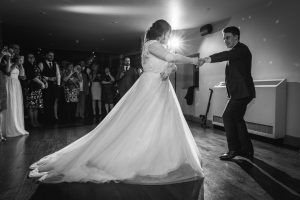 First dance at The Ashes Country House wedding venue