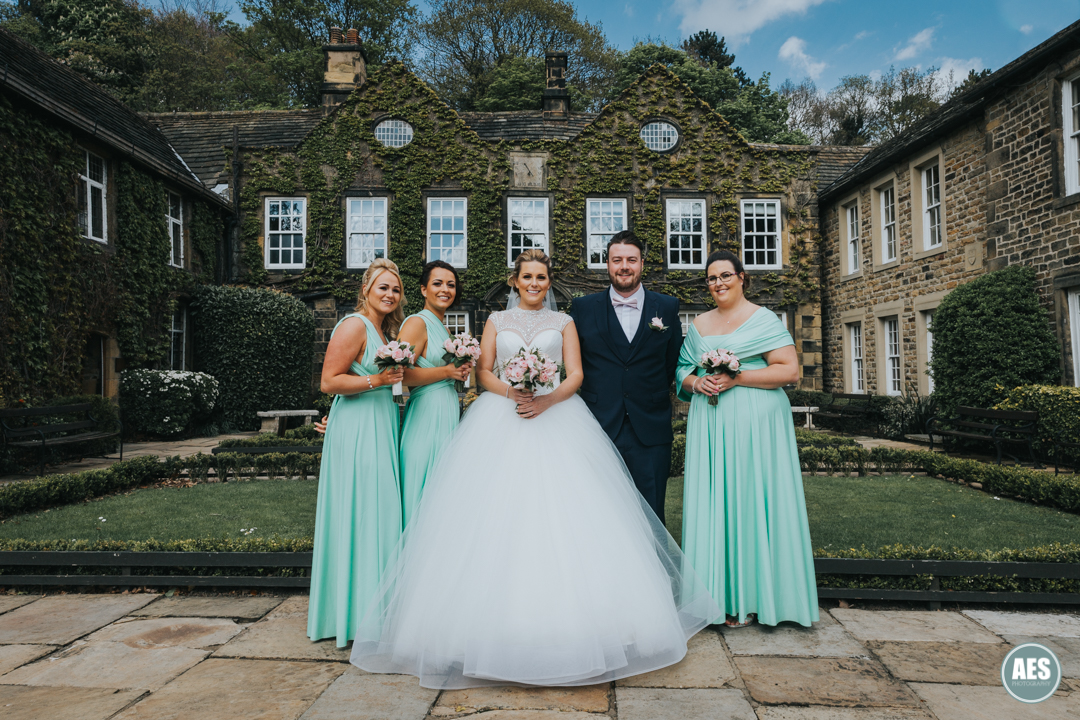 wedding bridal party at whitely hall hotel in Sheffield