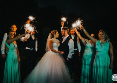 Wedding photography sparkler photo