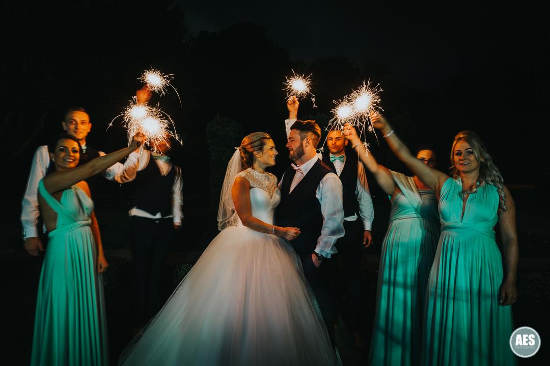 Wedding photography sparkler photo