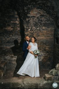 Happy couple at Newark Castle in Nottinghamshire