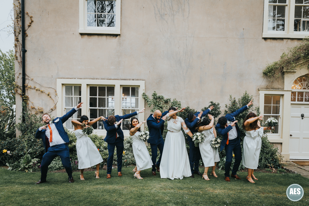 Bridal party dab at The Ulvers in Nottingham