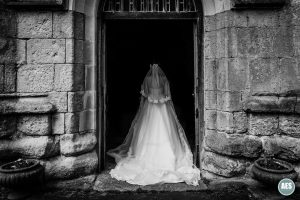 Bride in entrance at Laughton Church