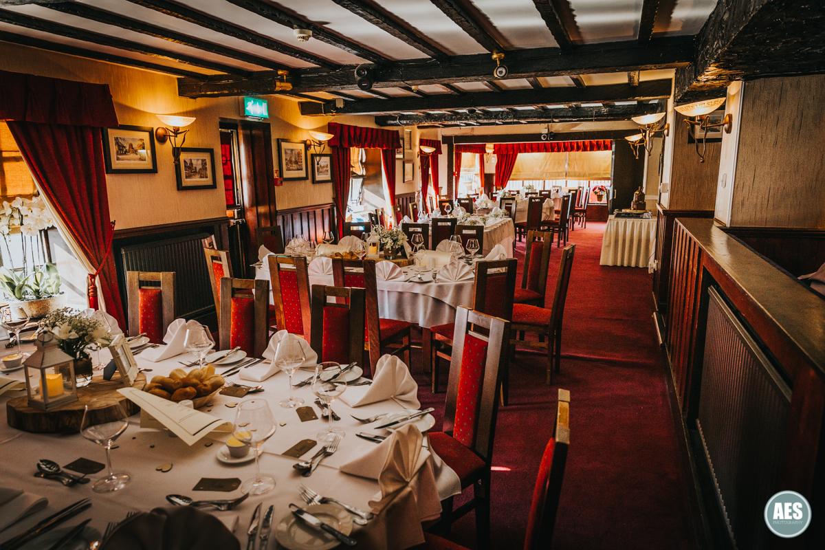Wedding room at the Venus Restaurant in Dinnington