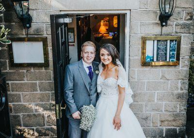 Bride and groom at the Venus Restaurant in Dinnington