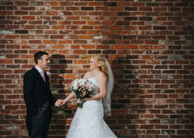 Bride and Groom at Red Brick House