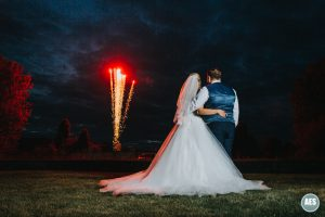 Wedding photography fireworks at Hotel Van Dyk
