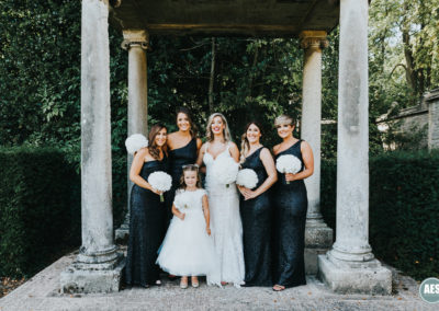 Bridal party at Thornbridge Hall