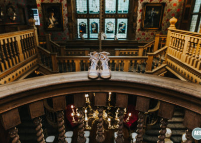 Thornbridge Hall wedding shoes in great hall