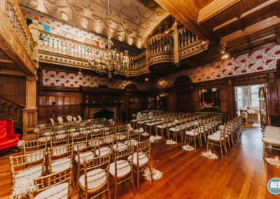 Thornbridge Hall wedding ceremony in great hall