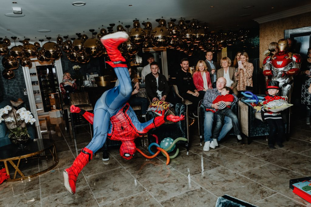 Exclusive event and party with spiderman